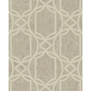 Tranquility Deco Geo Taupe Vinyl Strippable Roll (Covers 56 sq. ft.)