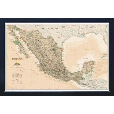 National Geographic Framed Interactive Wall Art Travel Map with Magnets - Mexico Executive