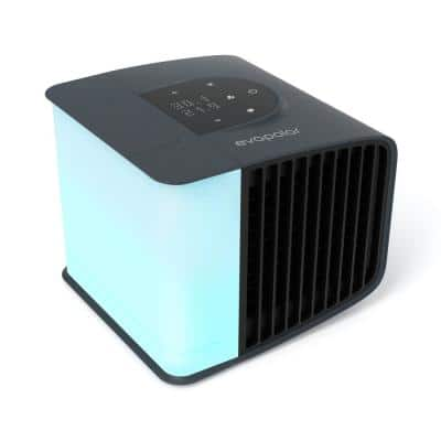 2 evaSmart Black 20-Speed Air Volume 47 CFM Portable Evaporative Cooler with Air Humidifier Purifier 45 sq. ft.