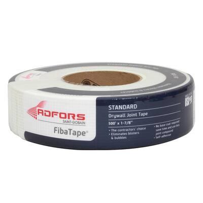 FibaTape Standard White 1-7/8 in. x 500 ft. Self-Adhesive Mesh Drywall Joint Tape