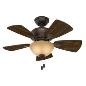 Watson 34 in. Indoor New Bronze Ceiling Fan with Light Kit