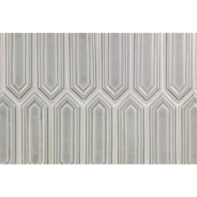 Delphi Hexagon Tundra 9.5 in. x 15.5 in. Glazed Ceramic Mosaic Tile (1.02 sq. ft./Sheet)
