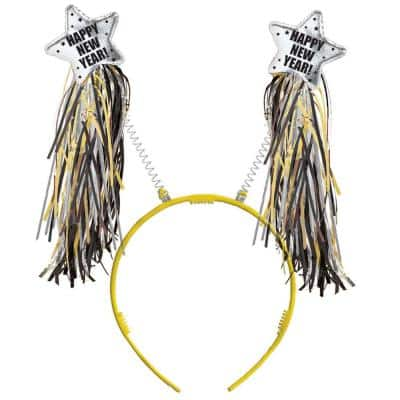 New Year's 10 in. Black, Silver, and Gold Headbopper (3-Pack)