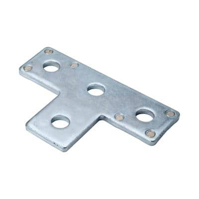 4-Hole Strut T-Bracket Silver Galvanized with Magnets