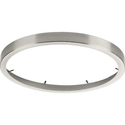 Everlume 14 in. Brushed Nickel Edgelit Round Trim Ring