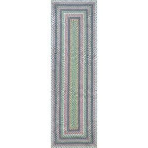 Shay Casual Striped Pink Multi 3 ft. x 8 ft. Indoor/Outdoor Runner