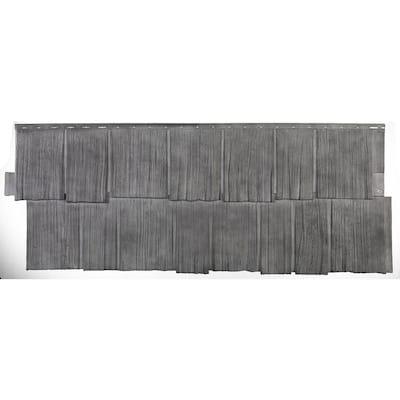 Shake HS - 18.75 in. x 48.38 in. Hand-Split Shake in Basalt (49.36 sq. ft. per Box) Plastic Shake Vinyl Siding