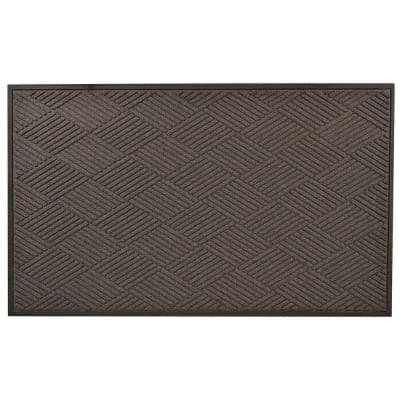 Opus Charcoal 36 in. x 120 in. Rubber-Backed Entrance Mat
