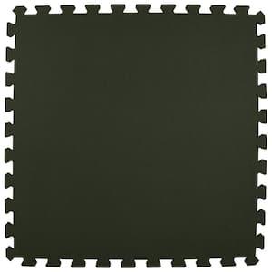 Premium Black 24 in. x 24 in. x 5/8 in. Foam Interlocking Floor Mat (Case of 25)