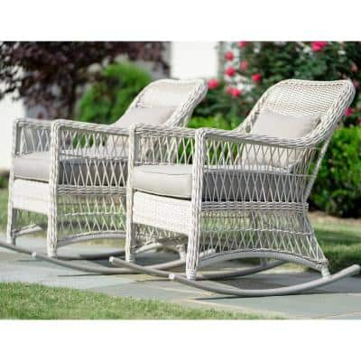 Wicker Rocking Chairs Patio, White Resin Wicker Patio Furniture Clearance