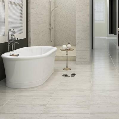 Brickell Bianco 12 in. x 24 in. Matte Ceramic Floor Tile (13.56 sq. ft. / carton)