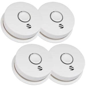 10 Year Worry-Free Sealed Battery Smoke Detector with Intelligent and Wire-Free Voice Interconnect (4-Pack)