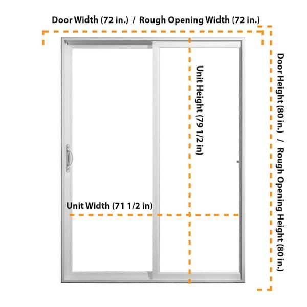 Full Lite Sliding Patio Door, What Size Is A Sliding Patio Door