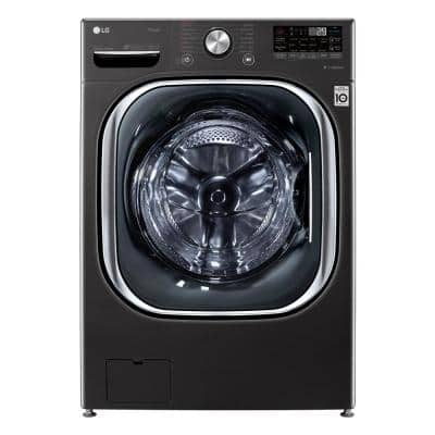 27 in. 5.0 cu. ft. Ultra Large Capacity Black Steel Front Load Washing Machine with Coldwash Technology & Wi-Fi