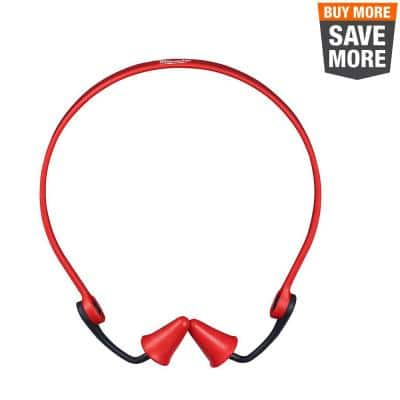Banded Reusable Red Earplugs with 25 dB Noise Reduction Rating