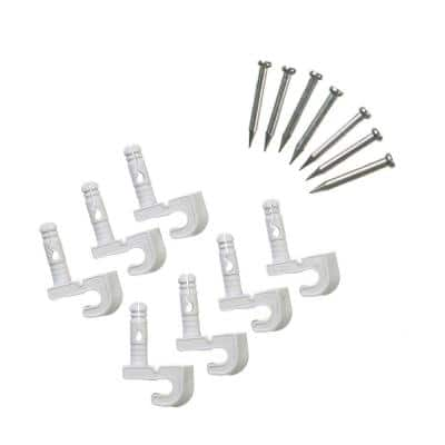 Preloaded Back Wall Clips for Wire Shelving (7-Pack)