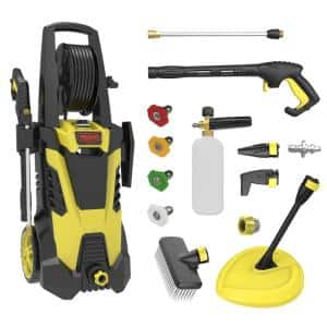 2450 PSI 1.75 GPM 14.5 Amp Cold Water Electric Pressure Washer in Yellow Black (Deluxe Edition)