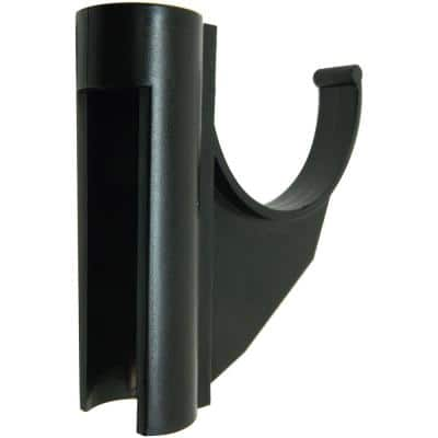 Omni-Hangers Pool Fence Safety Hook in Black Hang Safety Equipment From Your Pool Fence Close to the Pool (2-Quantity)