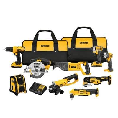 20-Volt MAX Cordless Combo Kit (9-Tool) with (2) 20-Volt 2.0Ah Batteries & Charger