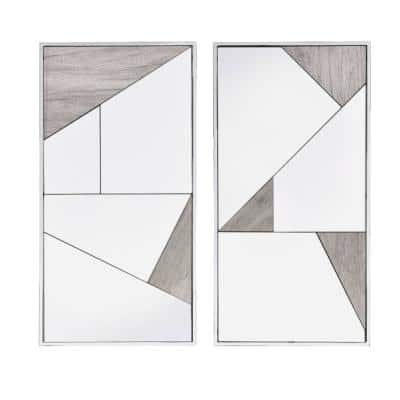 32 in. H x 17 in. W Modern Rectangle Framed Accent Mirror