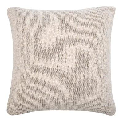 Ralen Knit Natural/Silver Lurex 20 in. x 20 in. Standard Pillow