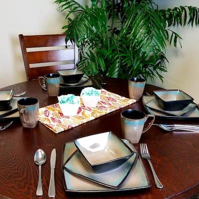 Tequesta 16-Piece Casual Tan Stoneware Dinnerware Set (Service for 4)