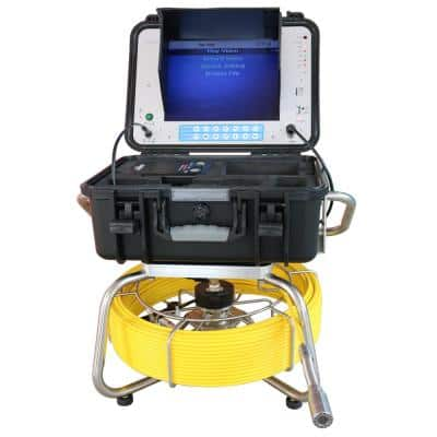 200 ft. W/Footage Counter, Color Sewer/Drain/Pipe Inspection Camera W/ 512Hz Sonde Transmitter