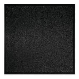 23.75 in. x 23.75 in. Stucco Pro Revealed Edge Vinyl Lay-In Black Ceiling Tile (Case of 12)