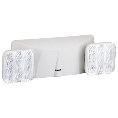 15-Watt Equivalent 120-Volt to 277-Volt Integrated LED White Adjustable Dual Head Emergency Light