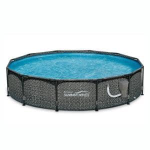33 in. Round 144 in. Above Ground Outdoor Pool with Filter Pump