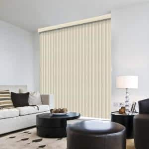 Suede White Room Darkening Vertical Blind for Sliding Door or Window - Louver Size 3.5 in. W x 84 in. L(9-Pack)