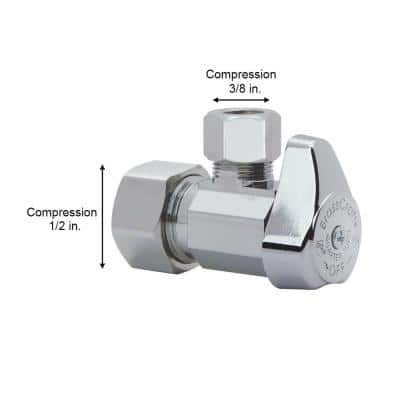 1/2 in. Compression Inlet x 3/8 in. Compression Outlet 1/4-Turn Angle Valve