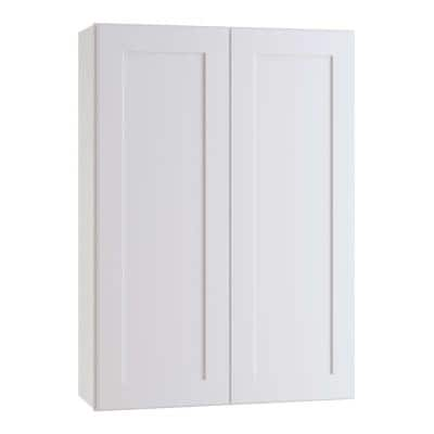Newport Assembled 24 x 36 x 12 in. Plywood Shaker Wall Kitchen Cabinet Soft Close in Painted Pacific White
