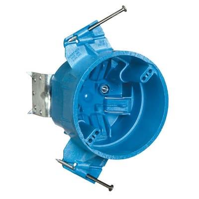 25 cu. in. New Work Ceiling Fan Electrical Box - Super Blue