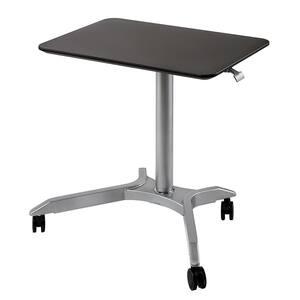 28 in. Rectangular Espresso Laptop Desks with Adjustable Height