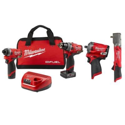 M12 FUEL 12-Volt Li-Ion Brushless Cordless Hammer Drill/Impact Wrench /Impact Combo Kit (2-Tool) W/ Impact Wrench