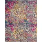 Passion Yellow/Multicolor 9 ft. x 12 ft. Persian Modern Area Rug