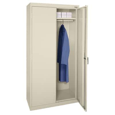Steel Freestanding Garage Cabinet in Putty (36 in. W x 72 in. H x 24 in. D)