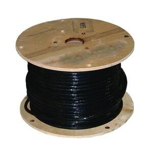 1,000 ft. 1/0 Black Stranded AL USE-2 Cable