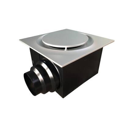 Low Profile 110 CFM Quiet Ceiling Bathroom Ventilation Fan 0.9 Sones, Satin Nickel