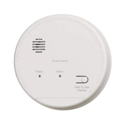 Hardwired Interconnected Photoelectric Smoke Alarm with Dualink and Battery Backup