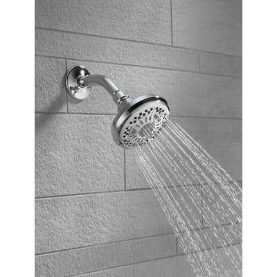 6-Spray 4.4 in. Single Wall Mount Fixed Shower Head in Chrome