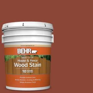 5 gal. #SC-330 Redwood Solid Color House and Fence Exterior Wood Stain