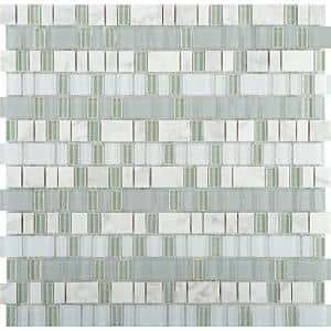 Unique Ballad Glossy 12.01 in. x 12.13 in. x 4mm Glass Mesh-Mounted Mosaic Tile (1.02 sq. ft.)