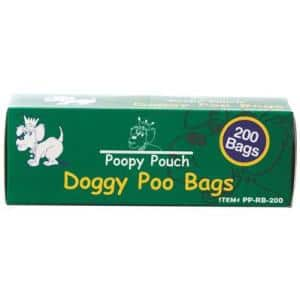 Poopy Pouch Universal Pet Waste Disposal Replacement Bags (200 Bags per Roll, 10 Rolls per Case)