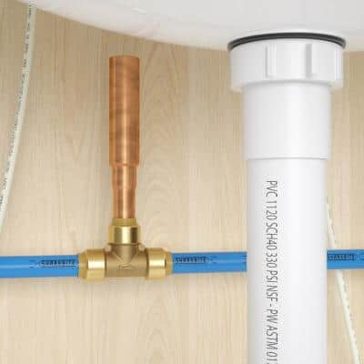 1/2 in. Push-to-Connect Brass Residential Water Hammer Arrestor Tee