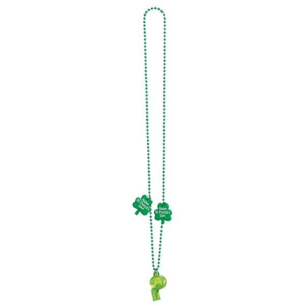 Amscan Green Whistle St Patrick S Day Bead Necklaces 13 Pack 392345 The Home Depot