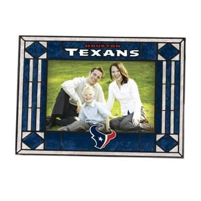 4 in. x 6 in. Texans Gloss Multi Color Art Glass Picture Frame