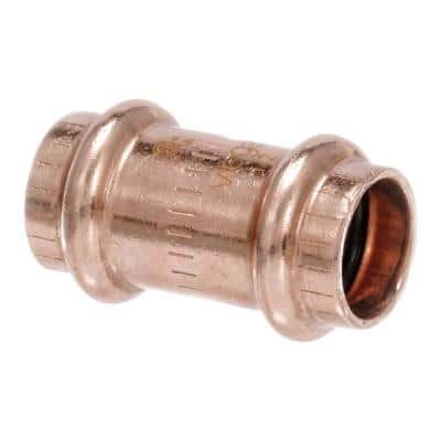 ProPress 1/2 in. Press Copper Coupling Fitting with Stop (10-Pack)