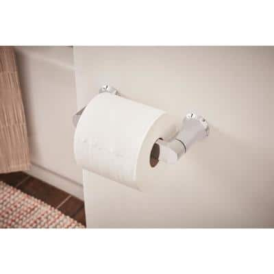 Genta Pivoting Toilet Paper Holder in Chrome